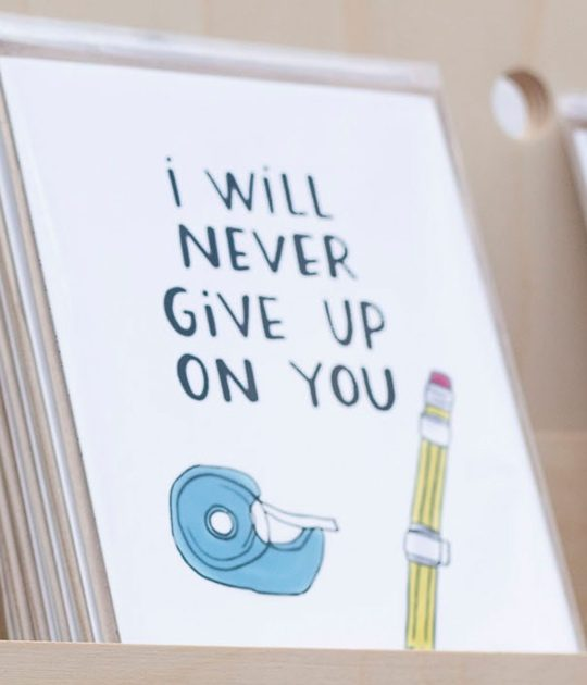 Encouraging card